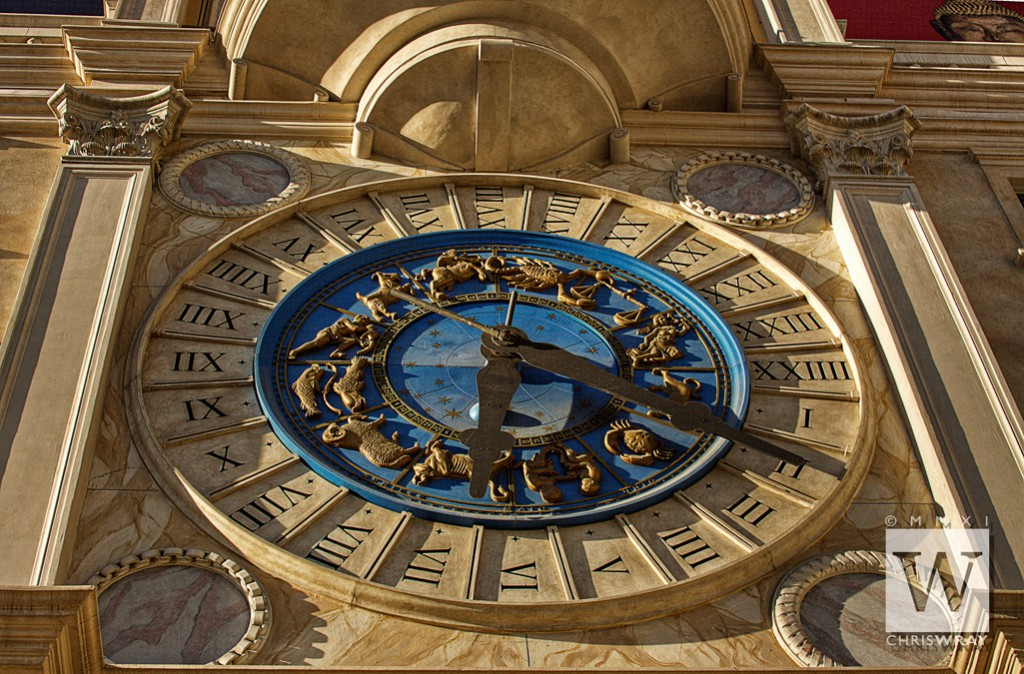 Zodiac clock, The Venetian, replica of St. Mark's Clock, Venice